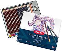 Набор цветных карандашей Colour Collection, 24 предм., в метал. короб., Derwent~#~Набір кольорових олівців