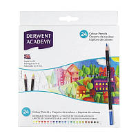 Набор цветных карандашей Academy в картон. короб. 24цв., Derwent~#~Набір кольорових олівців Colouring Academy,