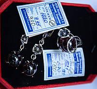 Серебряные серьги с натуральным камнем