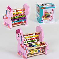 Ксилофон детская музыкальная игрушка, логическая игра  С 39240