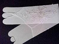 Свадебные перчатки коротенькие (айвори/крем)