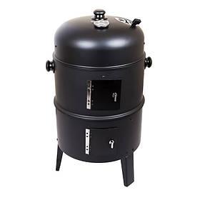 Угольный гриль-барбекю LS-815825 (гриль-коптильня) черный