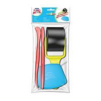 Набор инструментов для работы с пластикой (2 стека, резак, ролик), Fimo kids~#~Набір інструментів для роботи з