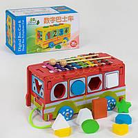 Деревянная музыкальная  игра, ксилофон  Автобус С 39261