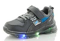 Кроссовки для мальчика LEDподсветкой (светящиеся) ТМ GFB-Канарейка (размеры 26,27,28,29,30,31) В НАЛИЧИИ!!!