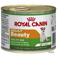 Royal Canin Adult Beauty Mousse -консервы для собак для поддержания здоровья кожи и шерсти.Вес 195гр.12шт