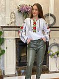 Жіноча вишиванка з трояндами і мереживом - дуже ніжна і водночас яскрава❤️, фото 2