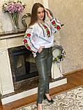 Жіноча вишиванка з трояндами і мереживом - дуже ніжна і водночас яскрава❤️, фото 3