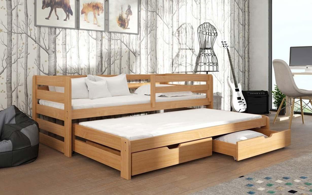 Детская деревянная кровать Кетти с дополнительным спальным местом ТМ MegaOpt