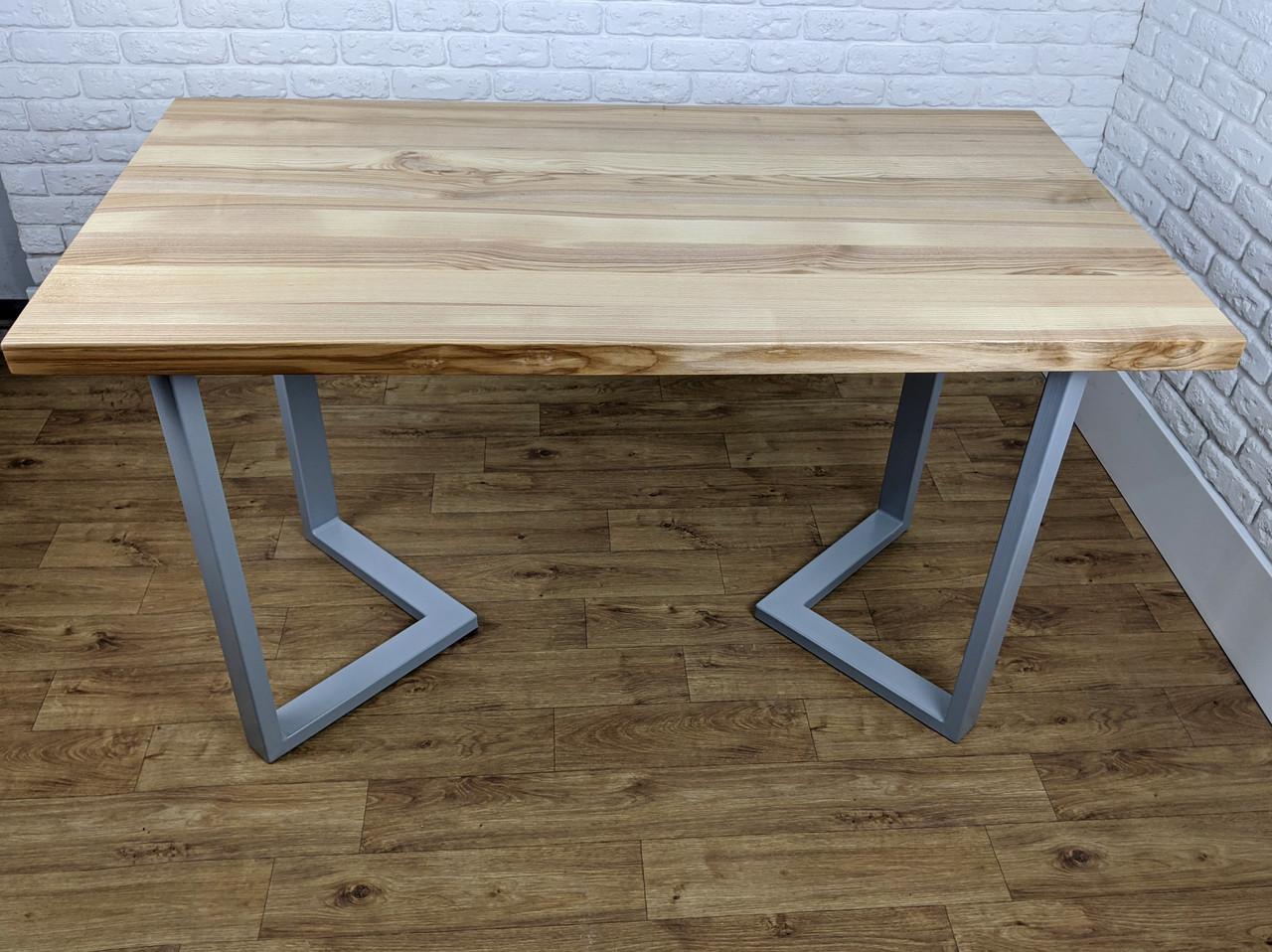 """Столик для кафе з дерева """"N45"""" з масиву ясена 120х70"""