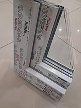 Двухстворчатые окна Rehau 70 с фрамугой, фото 3