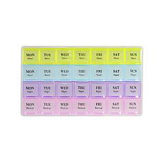 Таблетница-органайзер для таблеток Lesko 38728 на 28 відділень, 4 тижні