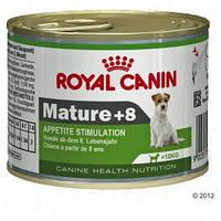 Royal Canin Mature +8 Mousse - консервы для собак.  Вес 195гр.12шт