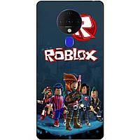 Силіконовий бампер чохол для Tecno Spark 6 з малюнком Roblox