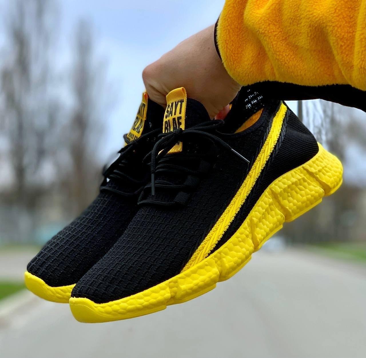 Мужские кроссовки Black/Yellow