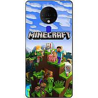 Силіконовий бампер чохол для Tecno Spark 6 з малюнком Minecraft