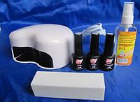 Стартовый набор для покрытия гель лаком My Nail (6 позиций) с лед лампой.