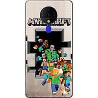 Силіконовий бампер чохол для Tecno Spark 6 з грою Minecraft