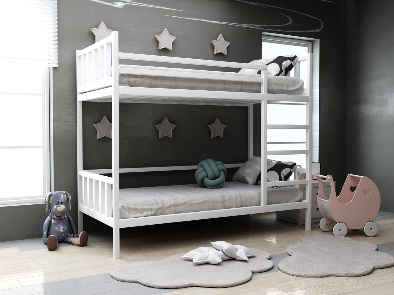 Дитяча дерев'яна двох'ярусна ліжко Хатіко ТМ MegaOpt