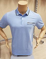 Футболка-поло мужская с коротким рукавом вискоза, фото 2