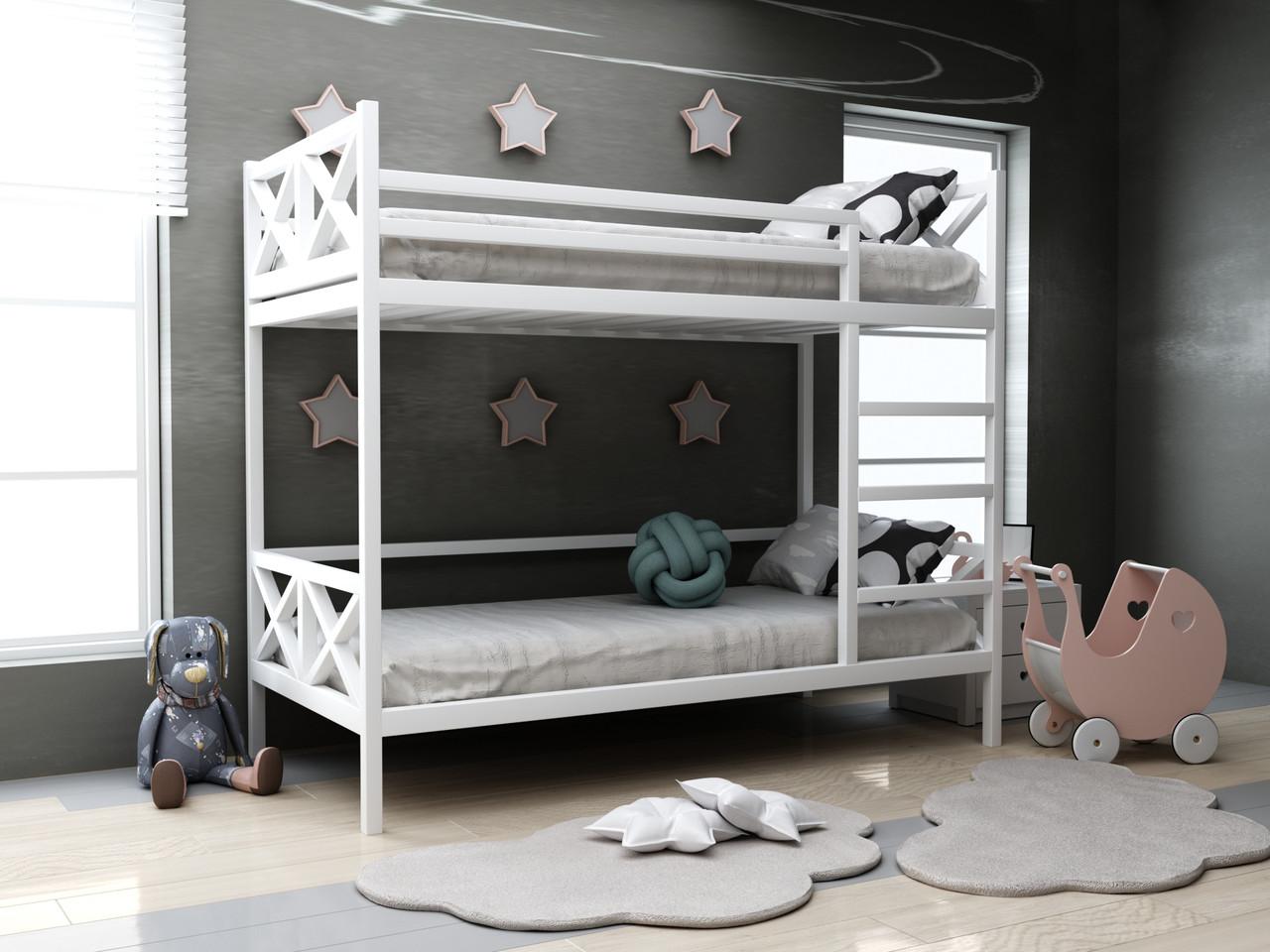 Детская деревянная двухъярусная кровать Лиана ТМ MegaOpt