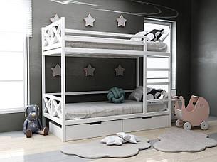 Детская деревянная двухъярусная кровать Лиана ТМ MegaOpt, фото 2