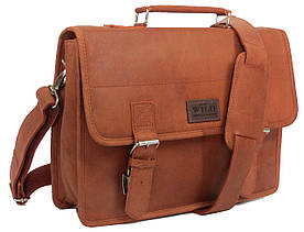 Шкіряна сумка-портфель Always Wild NZT2SH Cognac світло коричневий. УЦІНКА!