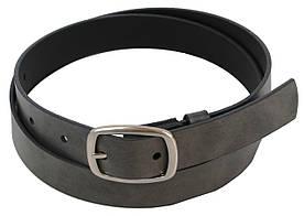 Ремень женский кожаный 3 см Cavaldi Pd35 серый