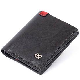 Стильное портмоне-кредитница комби в гладкой коже GRANDE PELLE 11327 Черное