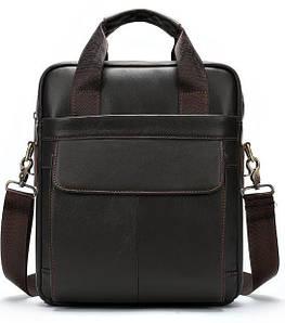 Вертикальная сумка мужская Vintage 14876 Серо-коричневая