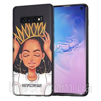 Чехол силиконовый для Samsung Galaxy S10e , девушка с короной, XIX