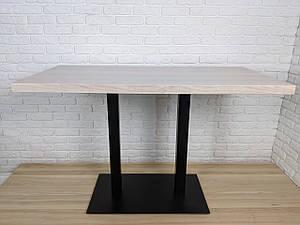 Прямокутні столи для кафе барів з масиву дерева і ніжки з металу