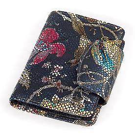 Жіночий гаманець Desisan 17056 шкіряний Хохлома