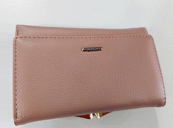 Жіночий гаманець Balisa C7601 пудра Жіночий гаманець з штучної шкіри закривається на магніт
