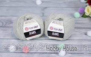 "Пряжа YarnArt ""Jeans""(ЯрнАрт Джинс)№49 серый"