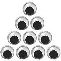 Набор глаз, двигающиеся 8 мм, 10 шт, Knorr Prandell~#~Набір очей, рухомих 8 мм, 10 шт, Knorr Prandell~#~