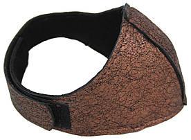 Автопятка кожаная для женской обуви темно коричневая 608835-19