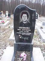 Одинарный памятник с цветником из гранита вертикальный образец №28