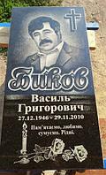 Одинарный памятник надгробие из гранита образец №40