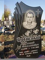 Памятник с цветником из гранита образец №50