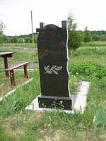 Памятник с цветником из гранита с нанесением художественного оформления на тыльной стороне №21