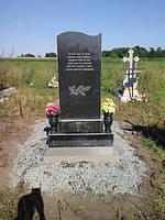 Одинарный памятник из гранита вертикальный образец №5