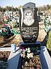 Одинарный памятник с цветником из гранита вертикальный образец №11