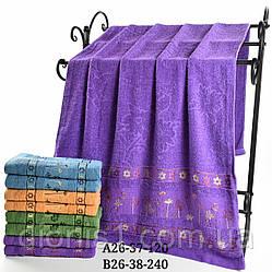 Банное махровое полотенце Цветы ассорти. 8 шт Размер 70х140 100% хлопок
