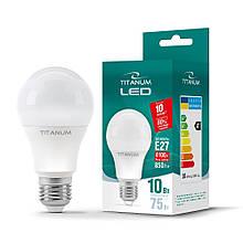 LED лампа TITANUM A60 10W E27 4100K