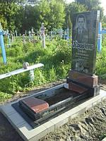 Памятник с цветником из гранита образец №62