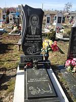 Памятник с цветником вазой из гранита надгробие художественного оформления образец №64