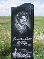 Одинарный памятник надгробие из гранита образец №55