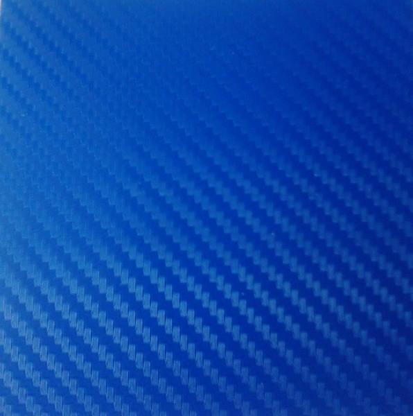 Плівка Карбон 3d синій з микроканалами 100х152 див.