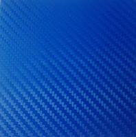 Пленка Карбон 3d синий с микроканалами 100х152 см., фото 1